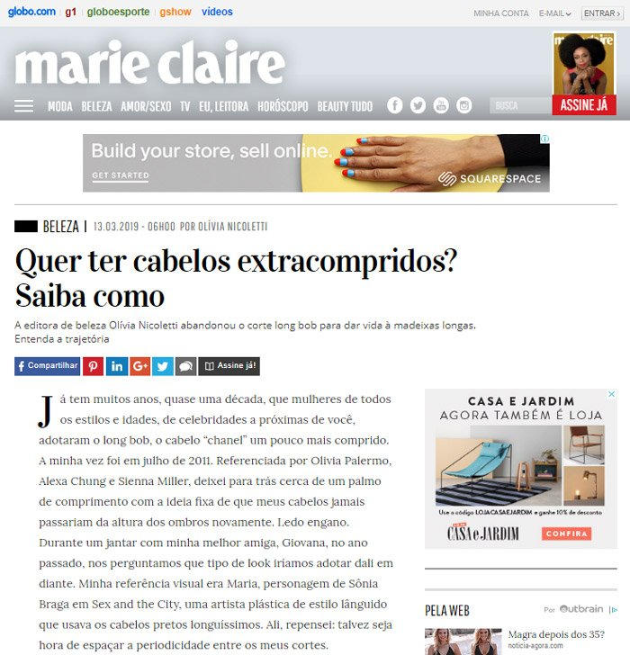 Revista Marie Clair - Laces and Hair